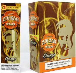 Zig Zag Orange Cigar Wraps 25-2ct - 50 wraps