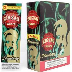 Zig Zag Strawberry Cigar Wraps 25-2ct - 50 wraps