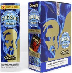 Zig Zag Vanilla Cigar Wraps 25-2ct - 50 wraps