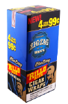 Zig Zag Blueberry Rillo Size Cigar Wraps 15/4's - 60 wraps