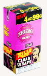 Zig Zag Pink Rillo Size Cigar Wraps 15/4's - 60 wraps