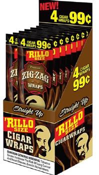 Zig Zag Straight Up Rillo Size Cigar Wraps 15/4's - 60 wraps