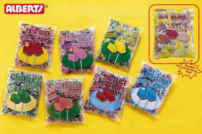 Big Slice Blue Raspberry Pops 48ct Bag