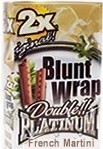 Double Platinum Blunt Wraps French Martini 50ct