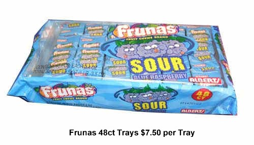 Frunas Fruit Chews 48 ct Cherry Starwberry Watermelon Grape Mango Bluerasberry