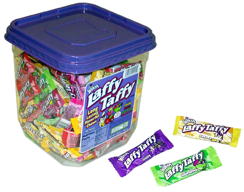 Laffy Taffy Candy Tub Jar - Willy Wonka Taffy Candy