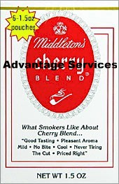 Middleton Cherry Blend pipe tobacco 6 - 1.5oz pockets