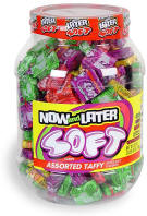 Now & Later Soft Assorted Tub 120ct jar