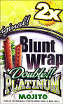 Double Platinum Mojito Blunt Wraps 25/2ct 50 wraps