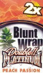 Double Platinum Blunt Wraps Peach 50ct