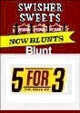 Swisher Sweets Blunts  Buy 1 Get 1 Free (100 cigars)