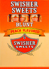 SWISHER SWEETS BLUNT PEACH 10/5PKS
