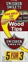 Swisher Sweets Wood Tips Cigars Buy 1 Get 1 Free (100 cigars)