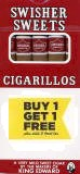 Swisher Sweets No Tip Cigarillo Cigars Buy 1 Get 1 Free (100 cigars)