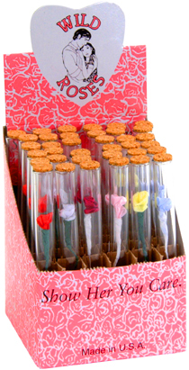 Wild Rose Glass Tubes 36ct with Removable ends
