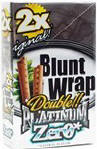 Double Platinum Blunt Wraps Zero Flavorless 50ct