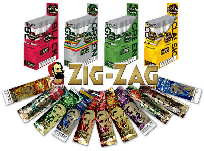 Zig Zag Blueberry Blunt Cigar Wraps 25-2ct - 50 wraps