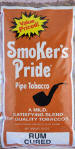 Smoker's Pride Rum Cured Pipe Tobacco 12 oz bags
